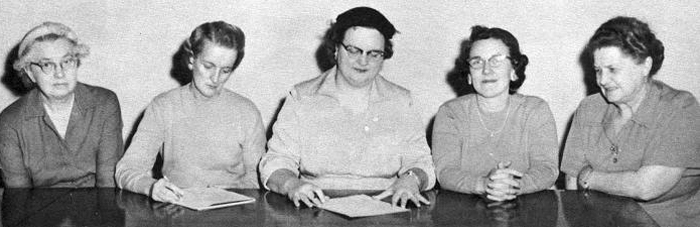 Ladies Hospital Auxiliary Board 1958